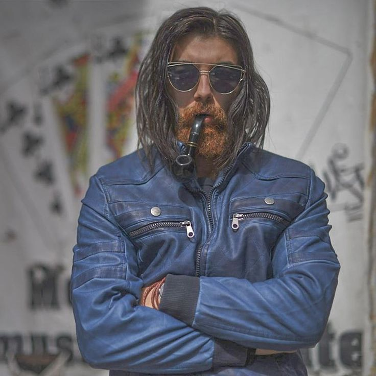 "221 Likes, 30 Comments - Amine sarieddine (@aminesdofficial) on Instagram: ""And again its #sunday night: #me you and my #leatherjacket . Shot by @skylinkd . @diesel…"" #Guyslonghair #menwithlonghair #hairstyle #guyswithlonghair #beard #pipe #jacket #bearded #mustache"