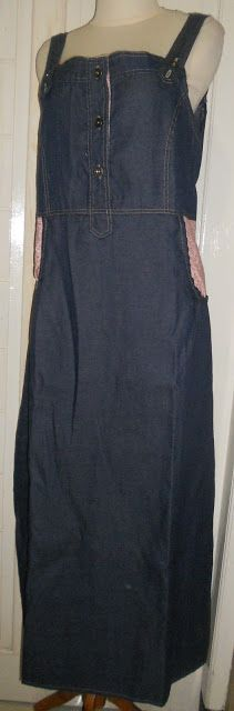 long casual dress  made from jeans
