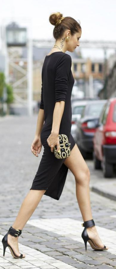 Look Du Jour: Noir And Gold by From Brussels With Love