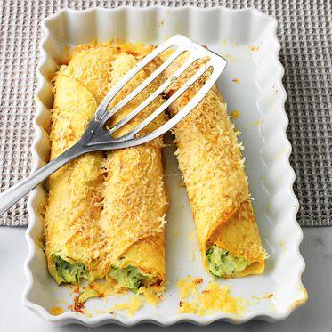 Überbackene Zucchini-Ricotta-Crespelle - Oven-Baked Zucchini-Ricotta Stuffed Pancakes