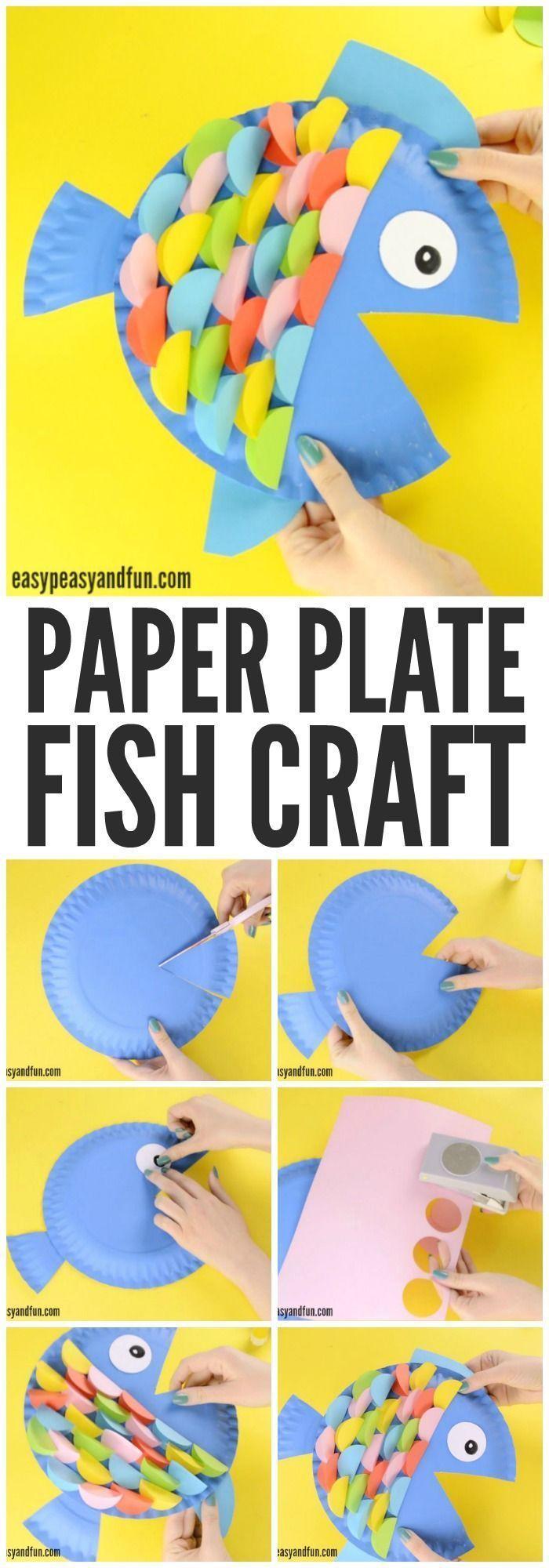 Paper Plate Fish Craft – Rainbow Paper Circles