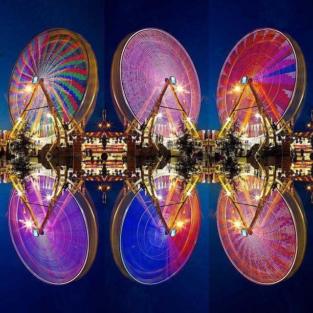 Edmonton, Alberta, Canada #photography #edmonton #alberta #ferriswheel #colours #amusement