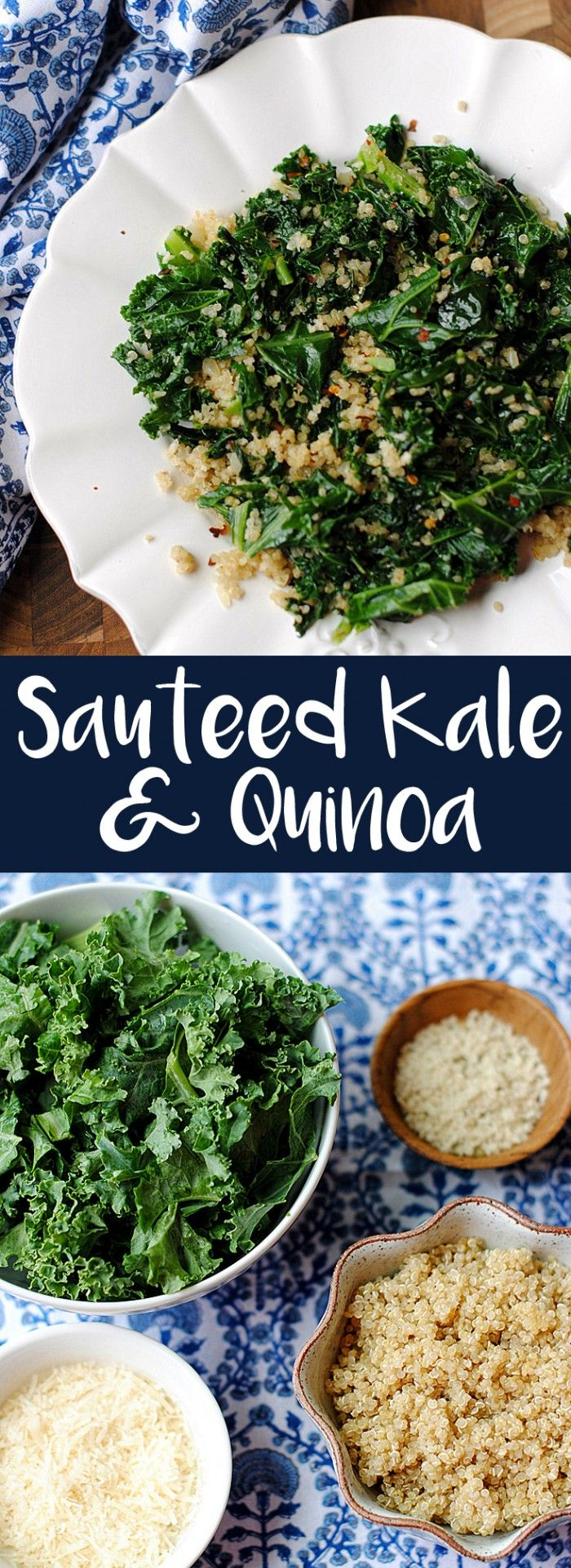 {Healthy} Sauteed Kale and Quinoa Skillet   Eat Yourself Skinny