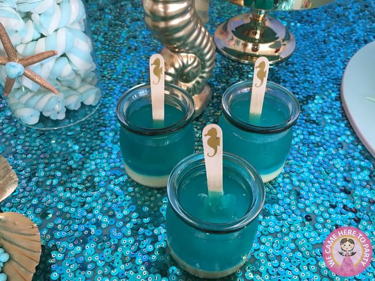 DIY Ocean Theme Jelly cups *Repin to your own inspiration board