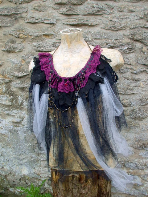 Reserved for TTTeam  Neo Victorian  Funeral  Black and by Shalotte, £40.00: Black Lace