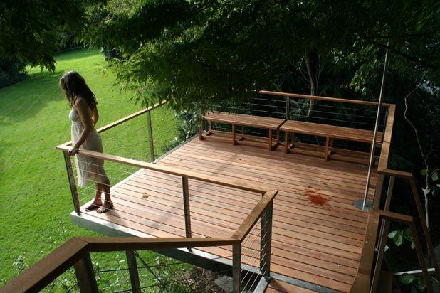 Terraza De Una Casa En Un árbol Casa Del Arbol Diseño