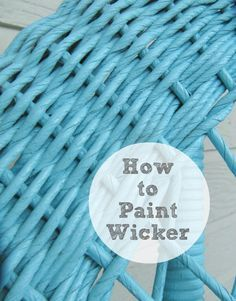 Painting Wicker - The Wicker House