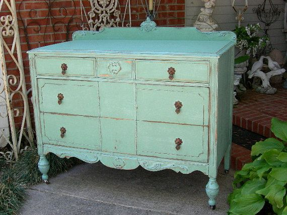 PAINTED DRESSER Order Your Own Lowboy Dresser Chest Bureau Custom / Shabby  Chic Painted Restored Antique Shabby Chic Furniture - 92 Best Antiques Images On Pinterest 3/4 Beds, Beautiful