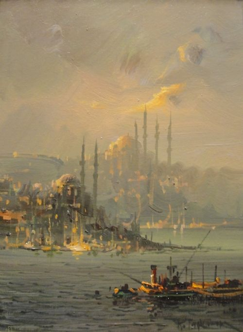 25+ Landscape Painting Istanbul Pictures and Ideas on Pro