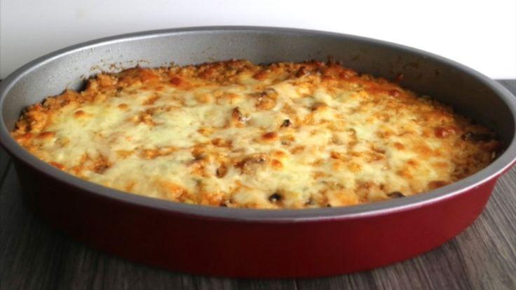 Reis mit Hühnchen und Käse