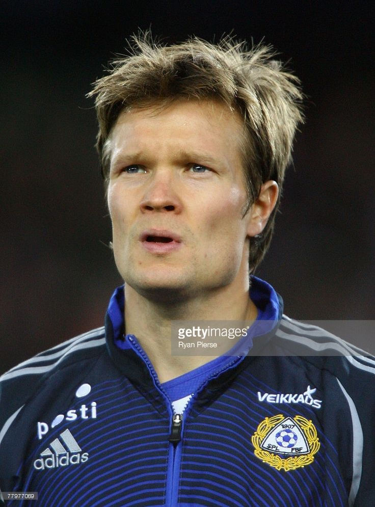 Joonas Kolkka of Finland looks on before the Euro 2008 Group A qualifying match between Finland and Azerbaijan at the Olympic Stadium on November 17, 2007 in Helsinki, Finland.