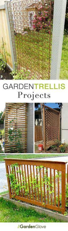 DIY Garden Trellis Projects • Lots of Ideas & Tutorials!!! Bebe'!!! Love these ideas!!! Great repurposing!!!