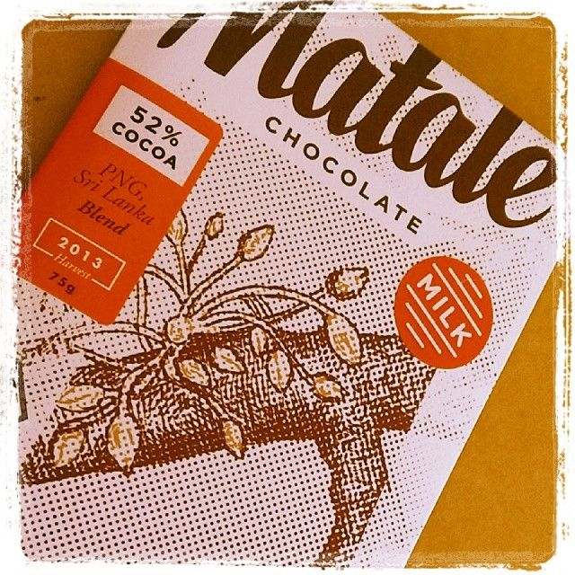New baby in matale's range! 52% cocoa milk chocolate. SO smooth, NOT so sweet :)