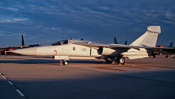 USAF General Dynamics EF-111A Raven from the 388th Tactical Electronic Squadron at Mountain Home AFB.
