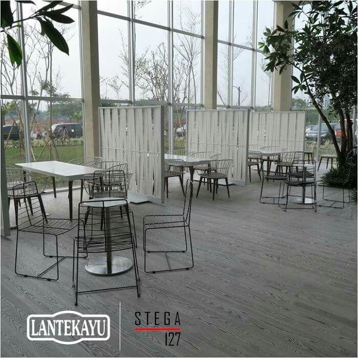 BRANZ - BSD Marketing Office by Tokyu Land Using our engineered parquet (STEGA 127) for flooring. #lantekayu #lantekayuprojectrenovation #lantaikayu #flooring #lantekayuproject #woodflooring