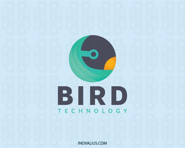 The Bird is an abstract logo with circular shape composed of forms that depict a bird.(animal, bird, pet, abstract, fly, parrot, marketing, gradient, consulting, game, netting, logo design, logo for sale, logo, logotipo).