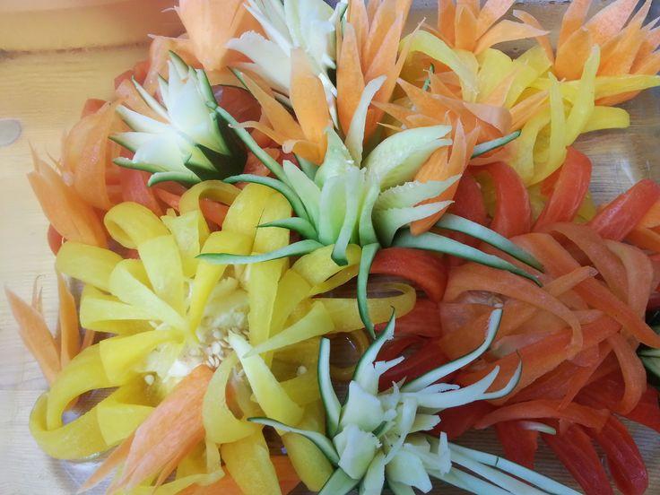 Beautifull flowers from vegetebles