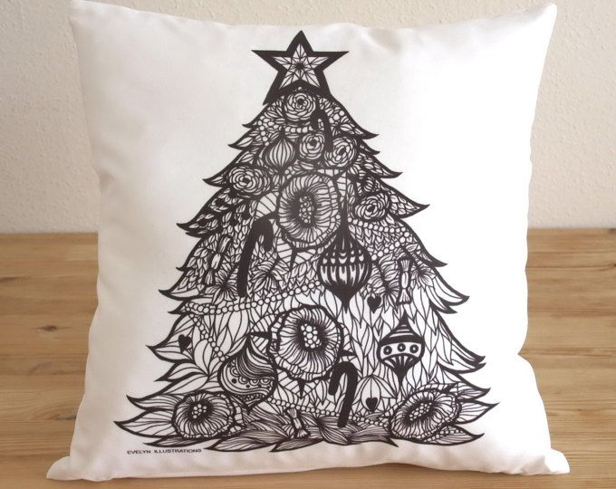 Christmas Decor Pillow  - Home Decoration - Decorative Throw Pillow Cover - Coussin - Cushion