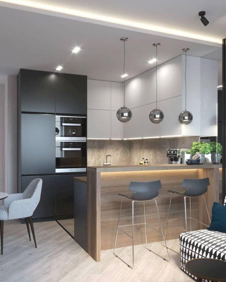 56 Modern Luxury Kitchen Design Ideas That Will Inspire You 26 Interior Design Modern Kitchen Design Small Kitchen Decor Small Modern Kitchens