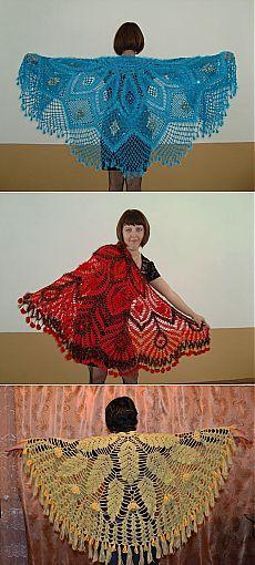 Вязание: шали от Ольги Милишкевич-Алясьевой