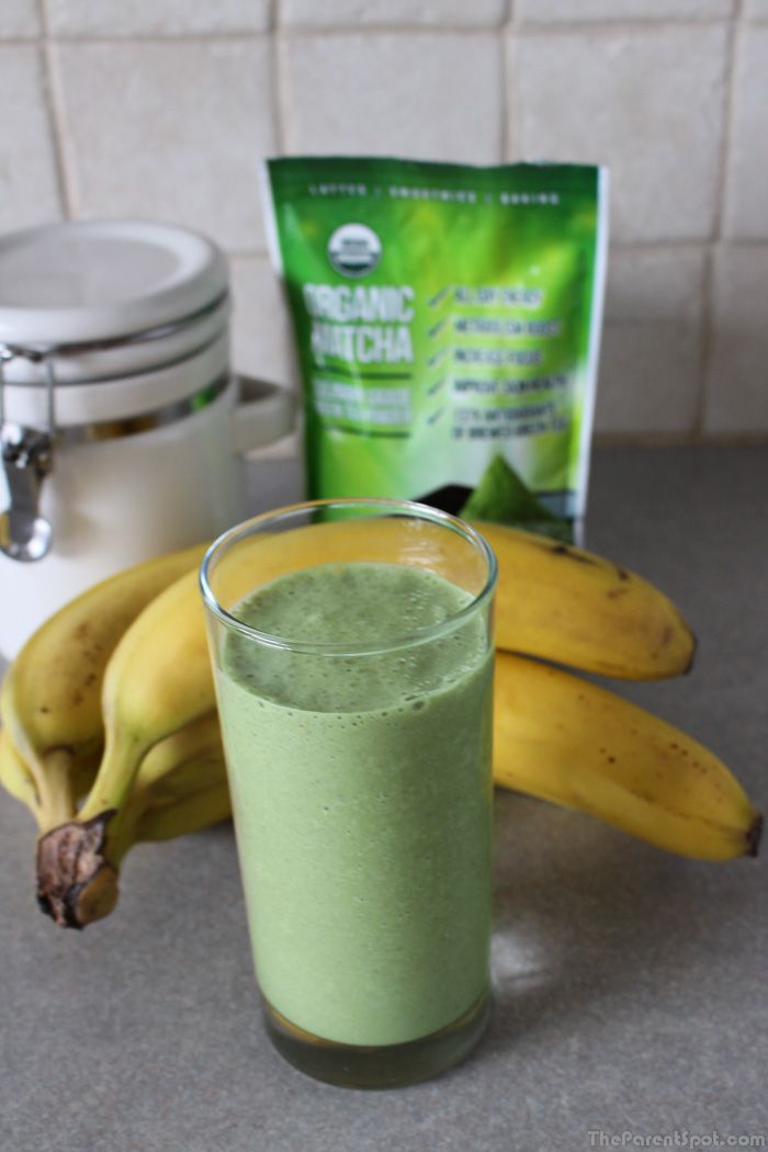 Matcha Green Tea and Banana Smoothie Recipe