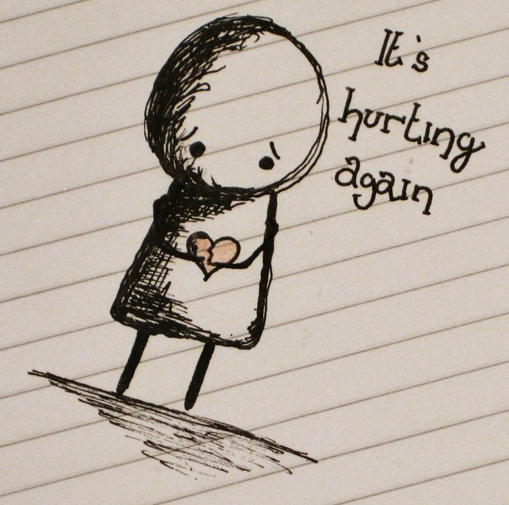 On Monday, the beauty shared a very sad picture of a crying stick figure drawing holding a broken heart, along with the words ' it's hurting again'. Description from dailymail.co.uk. I searched for this on bing.com/images