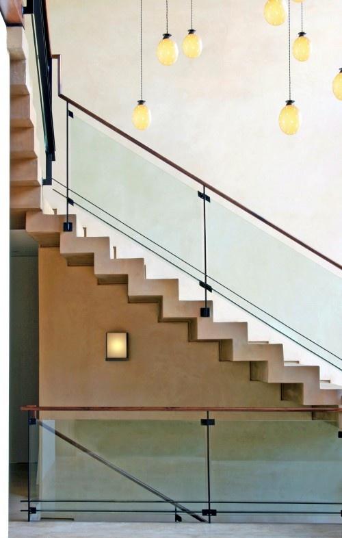 skinny steel + glass railing