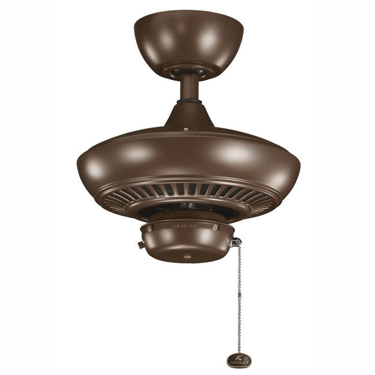 Kichler 320500 Indoor Outdoor Ceiling Fan With Downrod And Pull Chain Coffee Mocha Fans
