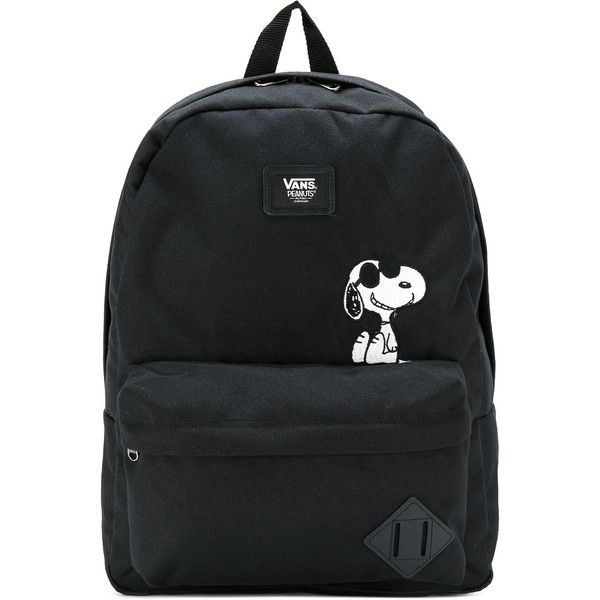Vans Snoopy patch backpack (€41) ❤ liked on Polyvore