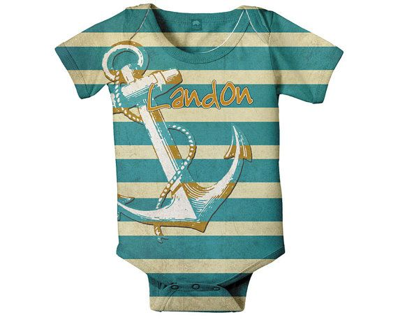 Nautical Baby Onesie Personalized Anchor by SimplySublimeBaby, $24.95
