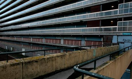 The Heygate council estate in South London - the inspiration for Cassie's block