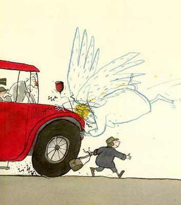 Jutta Bauer from Germany - Guardian Angels NEVER have the day off.....  :o)
