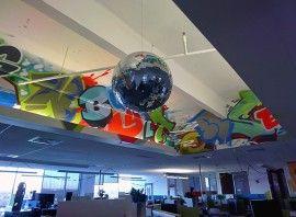 Googleplex google cubicles disco ball http://www.systronic.com.au/blog/googleplex-google-cubicles-disco-ball/