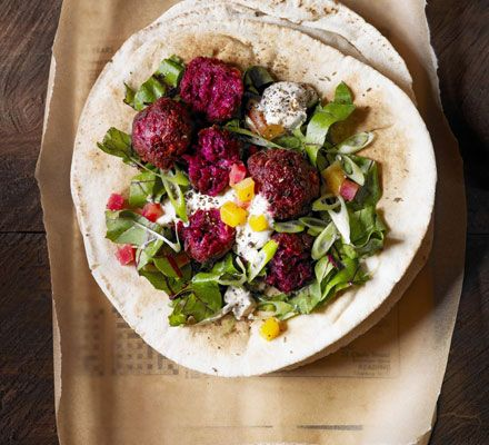 Beetroot falafel recipe by BBC Good Food