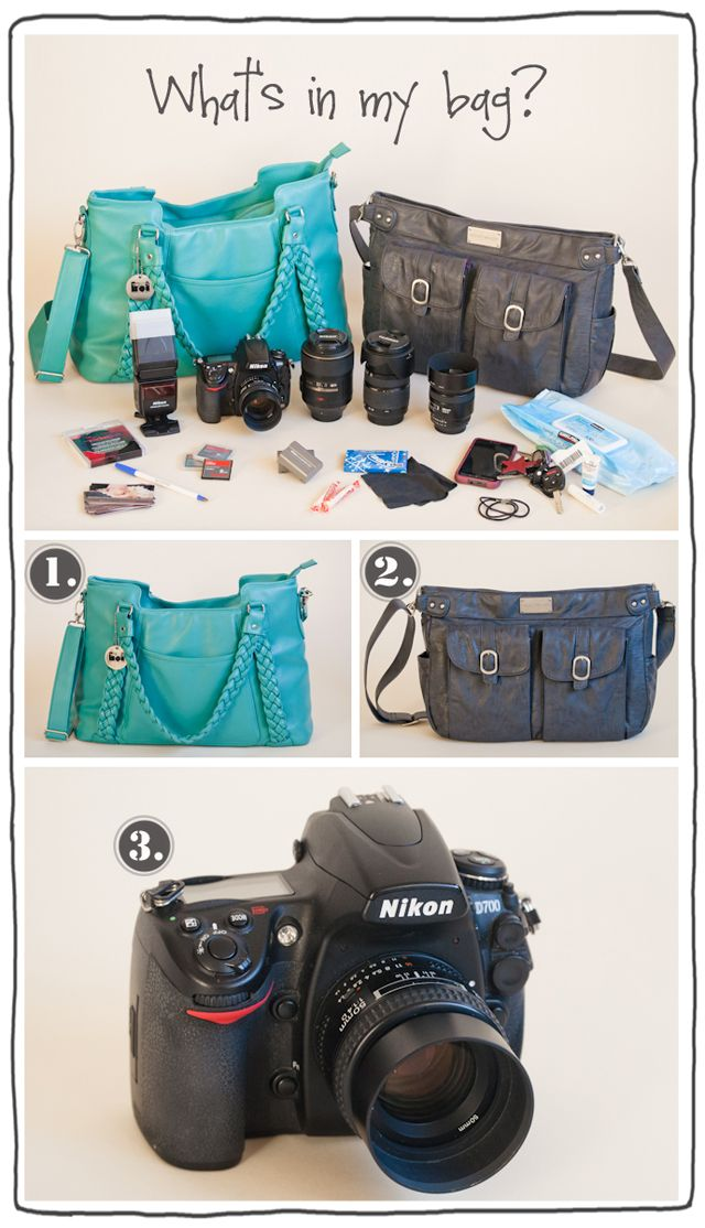 get a glimpse inside photographer Monica Wilkinson's camera bag and office space
