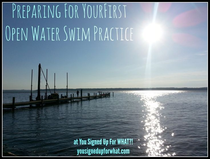 Preparing for your first open water swim practice. Triathlon training information and tips. Fitness tips, swimming advice.
