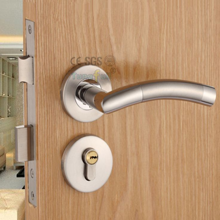 Design Security Door Lock With Key Stainless Steel Safe Lock NET Door Handles Entrance Locker