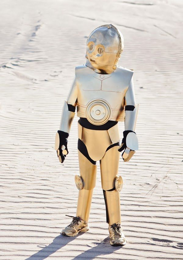 You can DIY a pretty incredible C-3P0 costume, too. | 21 Awesome Kid's Halloween Costumes To Start Making Now