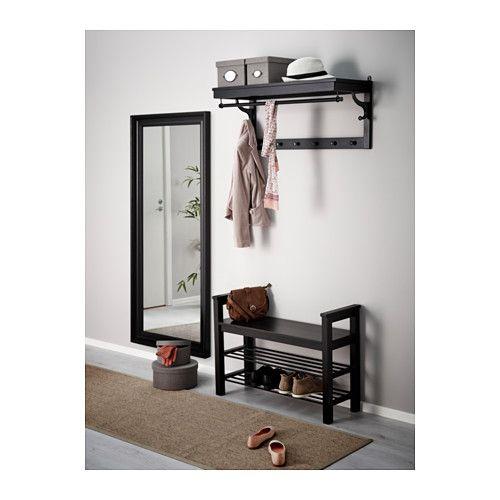 HEMNES Spiegel, schwarzbraun schwarzbraun 74x165 cm