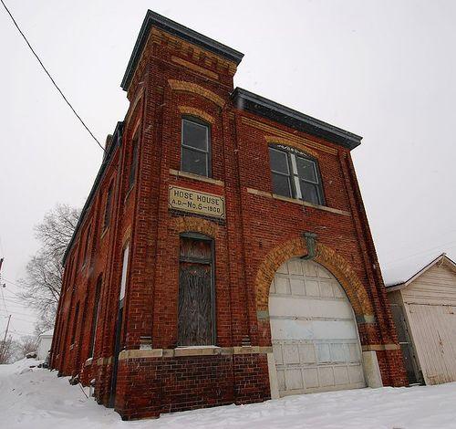 Brick fire house in Hamilton, Ohio