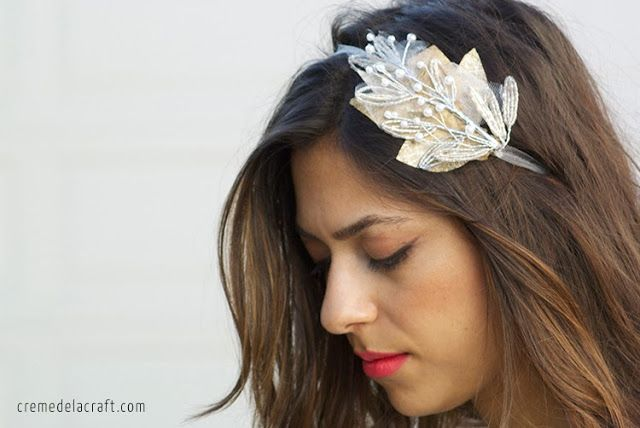 DIY this bridal headband for your big day.