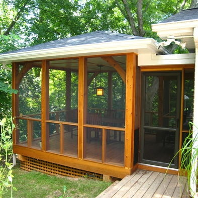 Ranch Screened Porch Design, Pictures, Remodel, Decor and Ideas