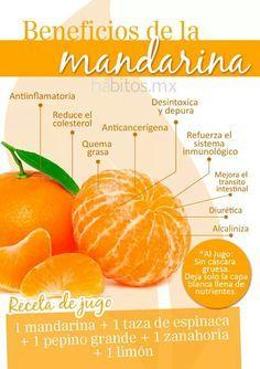 #Frutas #Potencializadoras Beneficios de la Mandarina