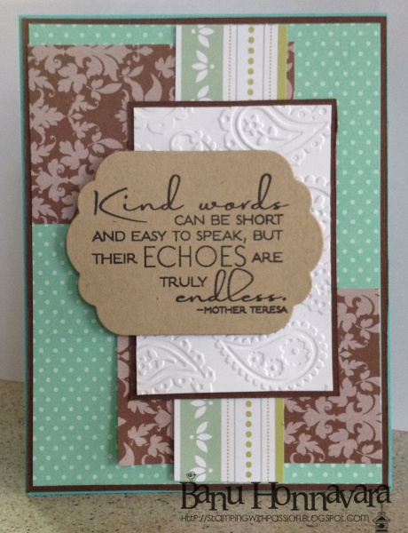 Kind Words - Indian Craft Room
