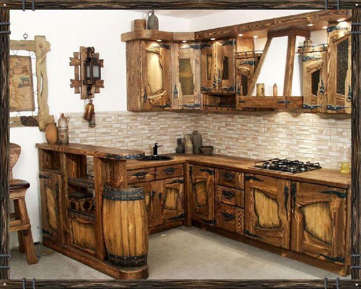Дизайн кухни под старину.