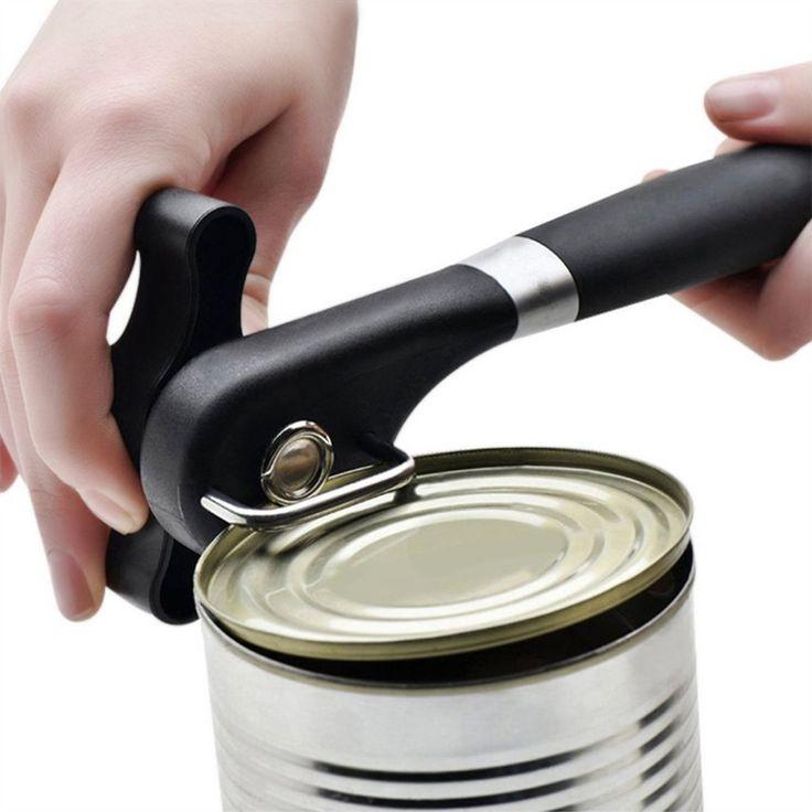 Консервный нож из нержавеющей Стали С Поворотной Ручкой Кухонный Инвентарь Срезом Ручной Консервный нож Профессиональный Эргономичный Открывалка Jar купить на AliExpress