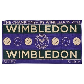 Wimbledon Mens Championships Towel 2013 - Green/Purple