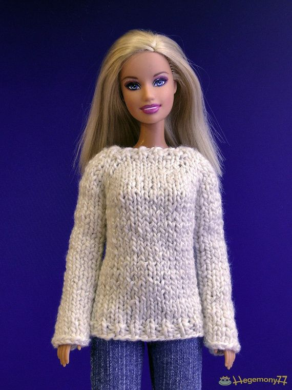 handmade knitted barbie doll clothes | Barbie Taeyang doll clothes - Hand knitted sweater