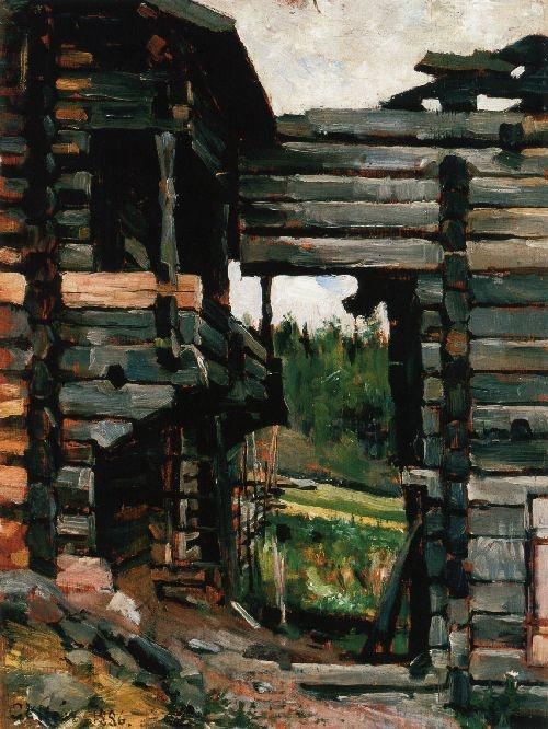 AKSELI GALLEN-KALLELA  Loft Barns at Korpilahti