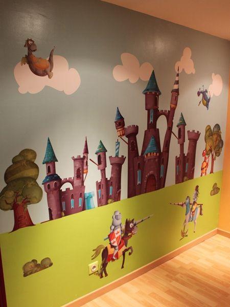 Décor mural médiéval réalisé avec des stickers chevalier idzif com http www